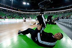 Curtis Jerrells of Partizan prior to the final match of Basketball NLB League at Final four tournament between KK Union Olimpija (SLO) and Partizan Belgrade (SRB), on April 21, 2011 in Arena Stozice, Ljubljana, Slovenia.  (Photo By Vid Ponikvar / Sportida.com)