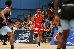 Justin Gray of Bristol Flyers with the ball - Photo mandatory by-line: Arron Gent/JMP - 28/04/2019 - BASKETBALL - Surrey Sports Park - Guildford, England - Surrey Scorchers v Bristol Flyers - British Basketball League Championship