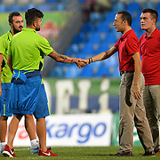 Referee Cuneyt Cakir (M-R) during their Turkish Super League soccer match Caykur Rizespor between Fenerbahce at the Yeni Rize Sehir stadium in Rize Turkey on Sunday, 23 August 2015. Photo by TVPN/TURKPIX