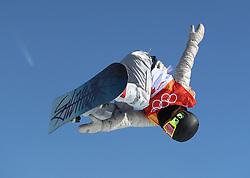 USA's Bailey Langland in the Ladies' Slopestyle Snowboard Final during day three of the PyeongChang 2018 Winter Olympic Games in South Korea.