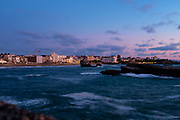 Long exposure - evening in Biarritz, France. Exposition longue - soirée à Biarritz, France