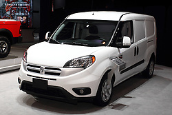 12 February 2015:  Dodge ProMaster city van.<br /> <br /> First staged in 1901, the Chicago Auto Show is the largest auto show in North America and has been held more times than any other auto exposition on the continent. The 2015 show marks the 107th edition of the Chicago Auto Show. It has been  presented by the Chicago Automobile Trade Association (CATA) since 1935.  It is held at McCormick Place, Chicago Illinois