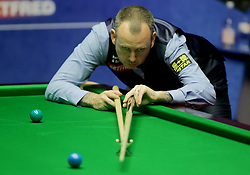 Mark Williams during day seventeen of the 2018 Betfred World Championship at The Crucible, Sheffield. PRESS ASSOCIATION Photo. Picture date: Monday May 7, 2018. See PA story SNOOKER World. Photo credit should read: Richard Sellers/PA Wire