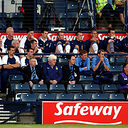 The Scottish bench watch the early stages of the game