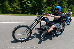 Jason Stritenberger on the ride from Suck, Bang, Blow in Murrells Inlet, SC to Rockingham, NC for the Smokeout 2015. USA. June 18, 2015.  Photography ©2015 Michael Lichter.