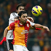 Galatasaray's Selcuk Inan (F) during their Turkish superleague soccer derby match Galatasaray between Besiktas at the TT Arena at Seyrantepe in Istanbul Turkey on Sunday, 27 January 2013. Photo by Aykut AKICI/TURKPIX