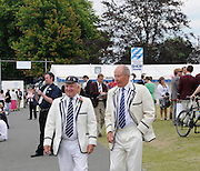 Henley, Great Britain.  Henley Royal Regatta. MIke WILLIAMS, Henley Steward and Umpire, FISA Treasurer, and Mike BALDWIN, Henley Steward and Umpire, in the Boat Tent area. River Thames,  Henley Reach.  Royal Regatta. River Thames Henley Reach. Sunday  15:59:00  03/07/2011  [Mandatory Credit/Intersport Images] . HRR