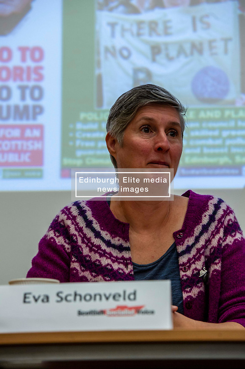 Pictured: Eva Schornveld<br /><br />Delegates welcomed panalists Eva Schornveld, Extinction Rebellion; Colin Fox and Róisín McLaran, Scottish Socialist Party and Asbjørn Wahl a climate activist from Norway to assess how tackling climate change can be done in ways which benefit working-class people and their communities.<br /><br />Eva Schonveld Extintion Rebellion<br /><br />Colin Fox is the national co-spokesperson of the Scottish Socialist Party and a former Member of the Scottish Parliament for the Lothians.<br /><br />Róisín McLaren is the national co-spokesperson of the Scottish Socialist Party. At 24, she is the youngest leader of any UK political party in history.<br /><br />Asbjørn Wahl is a Norwegian researcher and author. He is currently the director of the Campaign for the Welfare State, an adviser for the Norwegian Union of Municipal and General Employees, and the Vice President of the Road Transport Workers' Section of the International Transport Workers' Federation.<br /><br /><br />Ger Harley | EEm 29 June 2019