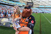Tigers fans. Wests Tigers v Sydney Roosters. NRL Rugby League. ANZ Stadium, Sydney, Australia. 10th March 2018. Copyright Photo: David Neilson / www.photosport.nz