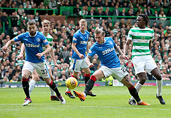 Rangers' Jason Cummings on the ball during the Ladbrokes Scottish Premiership match at Celtic Park, Glasgow. PRESS ASSOCIATION Photo. Picture date: Sunday April 29, 2018. See PA story SOCCER Celtic. Photo credit should read: Jane Barlow/PA Wire. RESTRICTIONS:  EDITORIAL USE ONLY