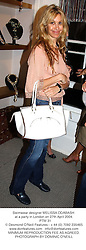 Swimwear designer MELISSA ODABASH at a party in London on 27th April 2004.<br /> PTM 31