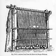 Ancient Loom from the book ' The viking age: the early history, manners, and customs of the ancestors of the English-speaking nations ' Volume 2 by Du Chaillu, Paul B. (Paul Belloni), Published in New York by  C. Scribner's sons in 1890