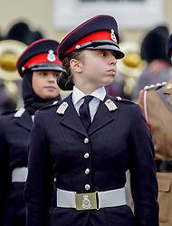 Jordan's Princess Salma seen during the Cadets' Parade at Sandhurst Military Academy, in Sandhurst, United Kingdom, on November 25, 2018. Photo by Balkis Press/ABACAPRESS.COM