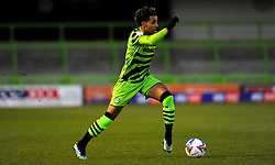 Odin Bailey of Forest Green Rovers runs with the ball- Mandatory by-line: Nizaam Jones/JMP - 27/02/2021 - FOOTBALL - The innocent New Lawn Stadium - Nailsworth, England - Forest Green Rovers v Colchester United - Sky Bet League Two