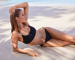 """Rosie Huntington-Whiteley releases a photo on Instagram with the following caption: """"In love with my new #RosieSwim collection available @marksandspencer, hope you do too! Link in my bio to shop the collection. Let me know what you think, what are your favourite styles?"""". Photo Credit: Instagram *** No USA Distribution *** For Editorial Use Only *** Not to be Published in Books or Photo Books ***  Please note: Fees charged by the agency are for the agency's services only, and do not, nor are they intended to, convey to the user any ownership of Copyright or License in the material. The agency does not claim any ownership including but not limited to Copyright or License in the attached material. By publishing this material you expressly agree to indemnify and to hold the agency and its directors, shareholders and employees harmless from any loss, claims, damages, demands, expenses (including legal fees), or any causes of action or allegation against the agency arising out of or connected in any way with publication of the material."""