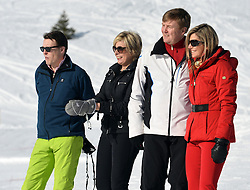 22.02.2016, Lech, AUT, Fototermin mit der Niederländischen Königsfamilie in Lech am Arlberg, im Bild Prinz Constantijn, Prinzessin Laurentien, Hollands König Willem-Alexander und Königin Maxima (von Links) // Prince Constantijn, Princess Laurentien, Dutch King Willem-Alexander and Queen Maxima, from left, pose for photographers during a photo session in the Austrian skiing resort of  in Lech, on Monday, Feb. 22, 2016. The Dutch Royal family is currently spending their winter vacation in the western Austrian province of Vorarlberg. Lech, Austria on 2016/02/22. EXPA Pictures © 2016, PhotoCredit: EXPA/ Stringer