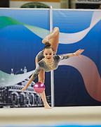 Diva Averina from Armonia D'Abruzzo team during the Italian Rhythmic Gymnastics Championship in Padova, 25 November 2017.