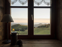 Scenic view of mountain from Ferme Auberge de Kahlenwasen, Vosges, France,