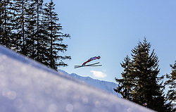 29.01.2016, Casino Arena, Seefeld, AUT, FIS Weltcup Nordische Kombination, Seefeld Triple, Skisprung, Probesprung, im Bild Eric Frenzel (GER) // Eric Frenzel of Germany competes during his Trial Jump of Skijumping of the FIS Nordic Combined World Cup Seefeld Triple at the Casino Arena in Seefeld, Austria on 2016/01/29. EXPA Pictures © 2016, PhotoCredit: EXPA/ JFK