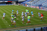 Football - 2020 / 2021 Sky Bet League One - Portsmouth vs. Accrington Stanley - Fratton Park<br /> <br /> The Portsmouth team go through there paces during the pre match warm up at Fratton Park <br /> <br /> COLORSPORT/SHAUN BOGGUST