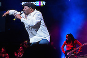 Reggae artist Beres Hammond performing at The Biolife Sounds of Reggae at the Barclays Center.
