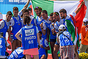 Sarasota. Florida USA., Sunday,  01/10/2017, General View, On Mass Photo opportunity, for two Italian, Medaling crews,  2017 FISA World Rowing Championships, Nathan Benderson Park,<br /> [Mandatory Credit. Peter SPURRIER/Intersport Images].<br /> <br /> 11:44:12