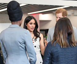 Prince Harry and Meghan Markle attend a reception with delegates from the Commonwealth Youth Forum at the Queen Elizabeth II Conference Centre, London, UK, on the 18th April 2018. Picture by Yui Mok/WPA-Pool. 18 Apr 2018 Pictured: Meghan Markle, Prince Harry. Photo credit: MEGA TheMegaAgency.com +1 888 505 6342