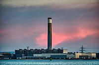 Southampton docks at sunset  photo By Michael Palmer