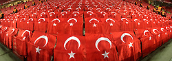 October 6, 2017 - EskiÅŸEhir, Türkiye - Supporters and flags of Turkey during FIFA World Cup European Qualifying match between Turkey vs. Iceland at Eskisehir, Turkey, October 6th, 2017. (Credit Image: © Hikmet Saatci/Depo Photos via ZUMA Wire)