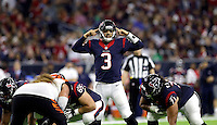 Houston Texans quarterback Tom Savage (3) calls a play against the Cincinnati Bengals during the second half of an NFL football game Saturday, Dec. 24, 2016, in Houston. (AP Photo/Sam Craft)