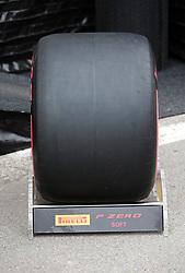 February 20, 2019 - Barcelona, Spain - soft tire during the Formula 1 test in Barcelona, on 20th February 2019, in Barcelona, Spain. (Credit Image: © Joan Valls/NurPhoto via ZUMA Press)