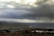 Moody skies over south-west Barra in the Outer Hebrides, Scotland