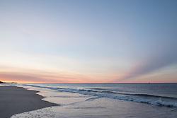 morning light over the ocean in Montauk, NY