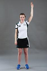 Umpire Louise Travis signalling suspension