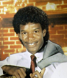 Oct 22, 2004; Terrell, TX, USA; Comedian JAMIE FOXX was known as Eric Bishop when he attended Terrell High School in Terrell, Texas in 1986. Foxx was seven months old when he was adopted by his granparents, Mark and Esther Talley, who had adopted Jamie's birth mother years before - so Foxx's mother Louise legally became his sister. Foxx, who stars in the Ray Charles biobic 'Ray' changed his name when he started doing standup comedy in 1989..  (Credit Image: Mike Fuentes/ZUMAPRESS.com)