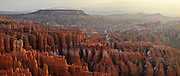 USA, Utah, Bryce Canyon National Park, sunrise at Inspiration Point, Digital Composite, panorama