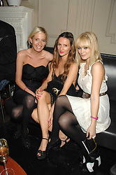 Left to right, the HON.SOPHIA HESKETH, AMANDA CROSSLEY and ELLIE SHEPHERD at a leaving party for Poppy Delevigne who is going to New York to persue a career as an actress, held at Chloe, Cromwell Road, London on 25th January 2007.<br />