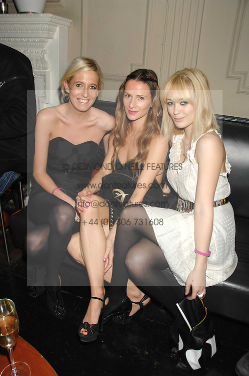 Left to right, the HON.SOPHIA HESKETH, AMANDA CROSSLEY and ELLIE SHEPHERD at a leaving party for Poppy Delevigne who is going to New York to persue a career as an actress, held at Chloe, Cromwell Road, London on 25th January 2007.<br /><br />NON EXCLUSIVE - WORLD RIGHTS