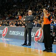 Anadolu Efes's Coach Dusan Ivkovic during their Turkish Airlines Euroleague Basketball Top 16 Round 3 match Anadolu Efes between CSKA Moscow at Abdi ipekci arena in Istanbul, Turkey, Thursday 15, 2015. Photo by Aykut AKICI/TURKPIX