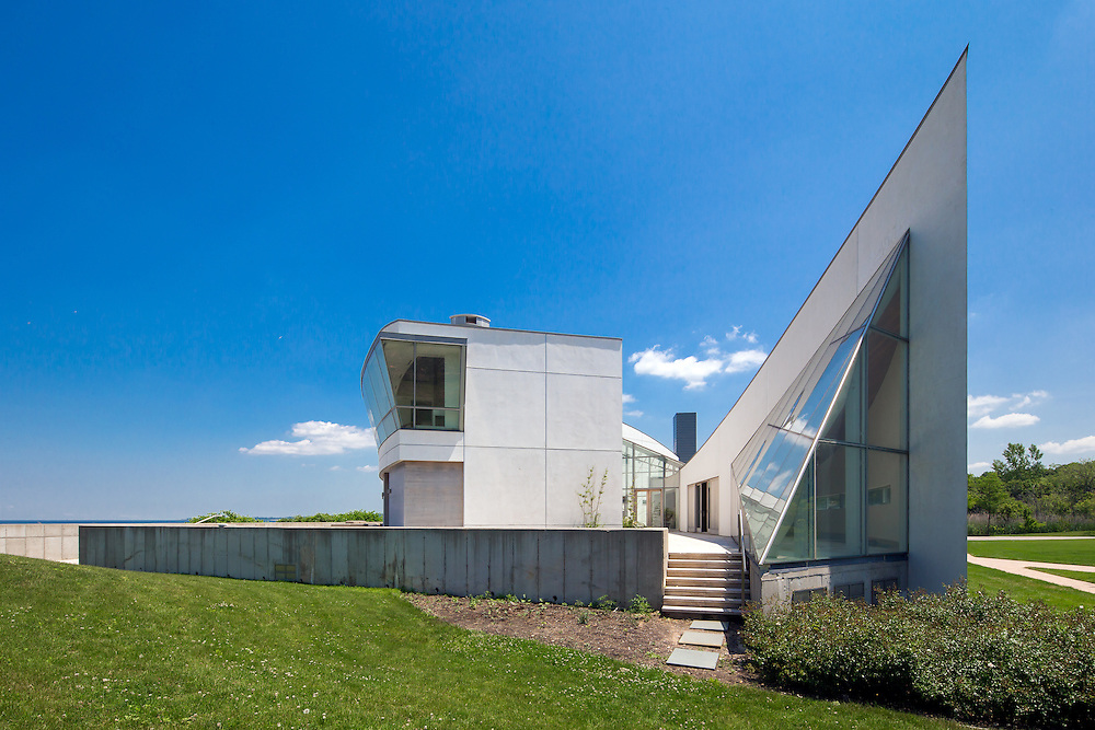 An ultra-modern beachfront home in Sands Point, Long Island NY.