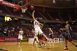 24 March 2011: Emily Hanley leans in for a lay up during a WNIT (Women's National Invitational Tournament Women's basketball sweet 16 game between the Duquesne Dukes and the Illinois State Redbirds at Redbird Arena in Normal Illinois.