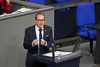 DEU, Deutschland, Germany, Berlin, 27.11.2019: Der Vorsitzende der CSU-Landesgruppe im Deutschen Bundestag, Alexander Dobrindt (CSU), bei einer Rede während einer Plenarsitzung im Deutschen Bundestag.