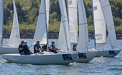 Pelle P Kip Regatta 2019 Day 1<br /> <br /> Light and bright conditions for the opening racing on the Clyde keelboat season<br /> <br /> Etchells Fleet