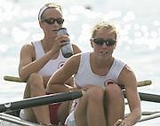 Nottingham, ENGLAND.  <br />  <br />   <br /> Commonwealth Regatta - Nottingham<br /> 20020818<br /> GBR LW2- Stephanie Temperton and Emma Thorpe