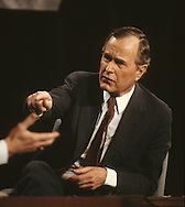 Vice President Bush at a candidates debate in Atlanta in March 1988..Photograph by Dennis Brack bb24