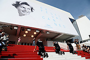 Setting up the red carpet at the 68th Cannes Film Festival<br /> ©Exclusivepix Media