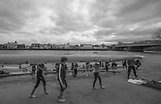 London, Great Britain.<br /> General Views crew boating from, Cygnet and Barnes Bridge Ladies in preperation for the<br /> 2016 Head of the River Race, Reverse Championship Course Mortlake to Putney. River Thames. Saturday  19/03/2016<br /> <br /> [Mandatory Credit: Peter SPURRIER;Intersport images]