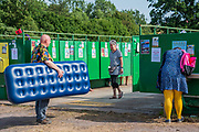 it can be a long wait for the toilets and basins - The 2019 Glastonbury Festival, Worthy Farm. Glastonbury.