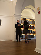 Frances Morris; Annabelle Selldorf; , Opening of Galerie Thaddaeus Ropac London, Ely House, 37 Dover Street.. Mayfair. London. 26 April 2017.