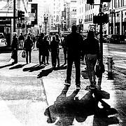 People walking in Grant street. San Francisco, CA.